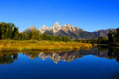 schwabachers landing in the grand tetons - stock photo