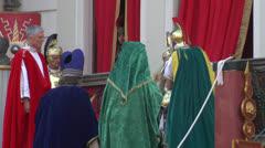 Pilate tribunal barabbas 02 Stock Footage