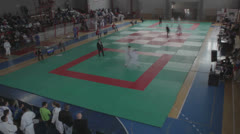 Judo competition [timelapse] Stock Footage