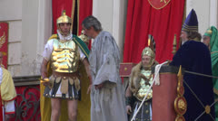 Pilate tribunal barabbas 03 Stock Footage