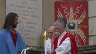 Pilate tribunal christ 02 Stock Footage
