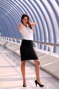 beautiful caucasian businesswoman - stock photo