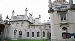 The Royal Pavilion in Brighton, UK - stock footage