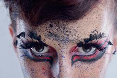 Beautiful woman with  luxury makeup Stock Photos