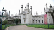 Stock Video Footage of The Royal Pavilion in Brighton, UK