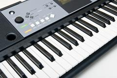 Electronic piano keyboard Stock Photos