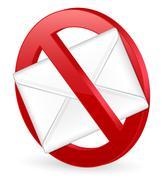 no spam 3d - stock illustration