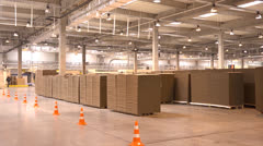 Production of cardboard packaging Stock Footage