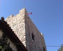 Marmaris castle oblique view Stock Footage