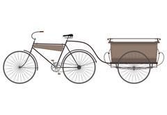 Old bike. - stock illustration