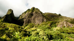 Time Lapse of Iao Valley in Maul Hawaii - 4K - 4096x2304 Stock Footage