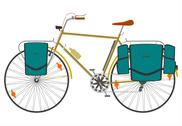 Stock Illustration of Touring bike.