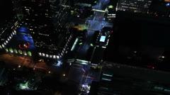 Night Kaupunkikuva Timelapse 98 Los Angeles Freeway Traffic Loop 4K Arkistovideo