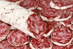 Original salami Stock Photos