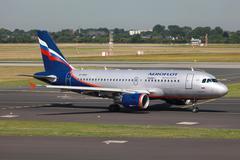 Aeroflot airbus a319 Stock Photos