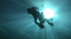 Various shot from under water to surface Stock Footage