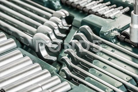 Stock photo of box with the tools