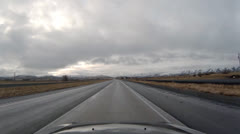 Driving POV - High Desert Freeway - Cloudy - Oregon Interstate 84 Southbound 4 Stock Footage