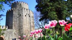 Springtime in Rumelihisari, Istanbul Stock Footage