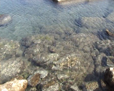 View of clear water in Mandraki harbor Stock Footage