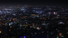 Night Kaupunkikuva Timelapse 113 Los Angeles Freeway Traffic L 4K Arkistovideo