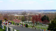 Stock Video Footage of Arlington Cemetery tilt shift Washington DC