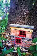 Handmade gnome house Stock Photos