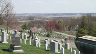 Stock Video Footage of Arlington National Cemetery Time Lapse