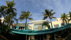 South Beach Miami home to luxury Art Deco hotels, Florida, USA - stock footage