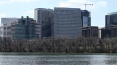 Arlington VA Rosslyn Skyline Stock Footage