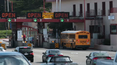 Golden Gate Bridge San Francisco toll booth HD 5503 Stock Footage