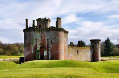Caerlaverock Castle, Dumfries and Galloway. - stock photo
