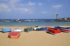 Port of San Andres at Tenerife - stock photo