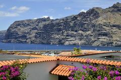 Los Gigantes and its famous cliffs at Tenerife Stock Photos