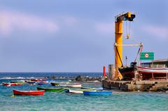 Port of San Andres at Tenerife Stock Photos