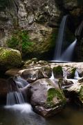Two small waterfalls Stock Photos