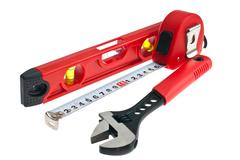 tools for building - stock photo