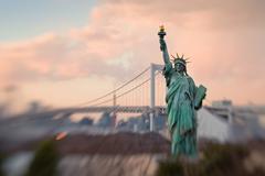 Statue of liberty replica in tokyo bay Stock Photos