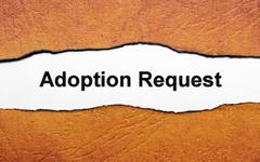 Adoption request Stock Illustration