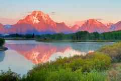 Oxbow bend at the grand tetons Stock Photos