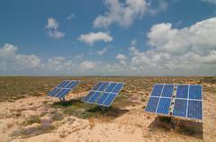 Solar battery Stock Photos