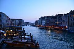 venice in the evening - stock photo