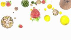 Falling Mixed Fruits Stock Footage