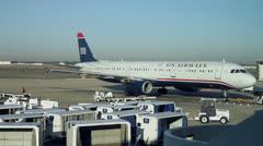 Orlando International Airport Time Lapse Plane Move Stock Footage