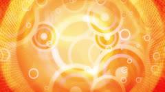 Yellow Orange Retro Shapes Looping Background Stock Footage