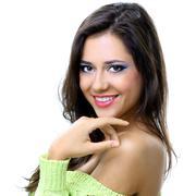 glamour portrait of beautiful woman - stock photo