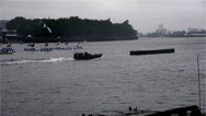 Stock Video Footage of London Royal Jubilee Water pageant Time Lapse