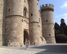 Palace of the Grandmasters in Rhodes Stock Footage