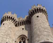 Entrance to Palace of the Grand Master of the Knights of Rhodes Stock Footage