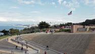 San Francisco California from Golden Gate Bridge HD 0971 Stock Footage